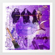 It's Just Not Gonna Happen < The NO Series (Purple) Art Print