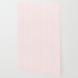 Classic Baseball Pattern Red Lines On White Wallpaper