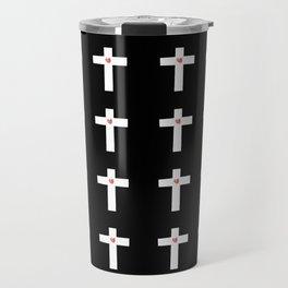 Christian Cross 28 with heart Travel Mug