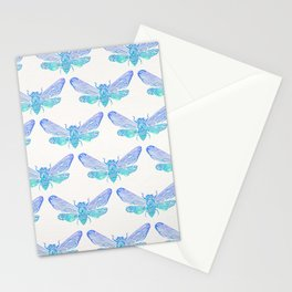 Summer Cicada – Blue Ombré Palette Stationery Cards