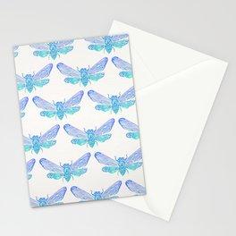 Summer Cicada – Blue Ombré Palette Stationery Cards