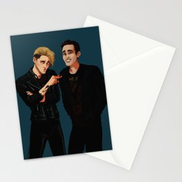 new men in black ft. Jace and Simon Stationery Cards