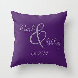 Plum and Grey Throw Pillow