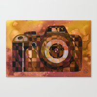 rebel Canvas Prints featuring Rebel by S.G. DeCarlo