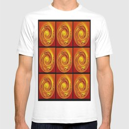 Abstract Collage Orange Art. T-shirt