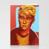 kieren walker Stationery Cards featuring Kieren Walker by charlotvanh