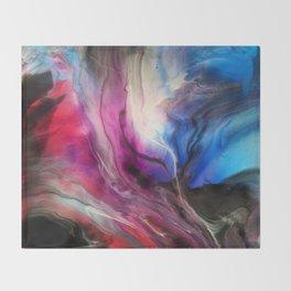 Sky Walker - Original Abstract Painting Throw Blanket