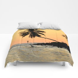 Sunset Silhouette  Comforters