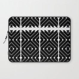 MONOCHROMA Geometrica : Black & White Box Pattern Laptop Sleeve
