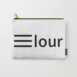 Elour logo black Carry-All Pouch