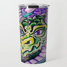 dragon close up (square) Travel Mug