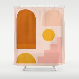 Abstraction_SHAPES_Minimalism_01 Shower Curtain