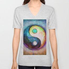 Yin Yang - Colorful Painting V Unisex V-Neck