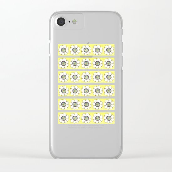 Crazy Daisies Clear iPhone Case