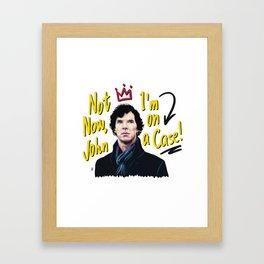Sherlock on a Case Framed Art Print