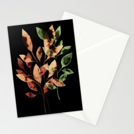 Watercolor Leaves I Stationery Cards