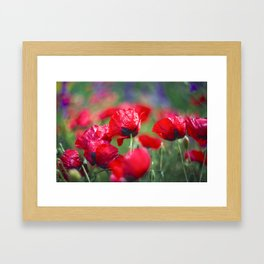 Field of lovee Framed Art Print