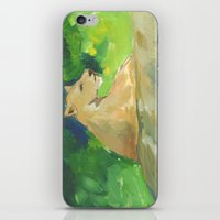 kiki iPhone & iPod Skins featuring Kiki by Paintmonkey Studios