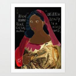 Black Culture Matters African Art Art Print