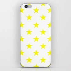 Stars (Yellow/White) iPhone & iPod Skin