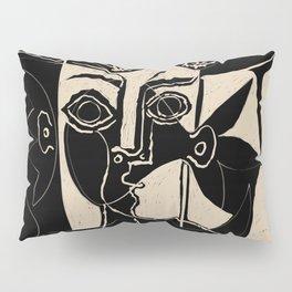 Picasso Woman's head #8 black line Pillow Sham