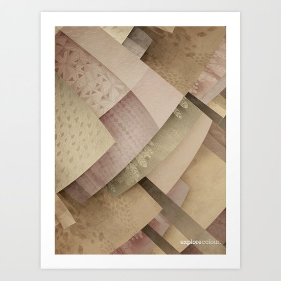 Explore colour Art Print