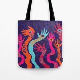 The Hands have Eyes Tote Bag