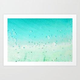 Beach Art, Aerial Beach Photography, Beach Print, Ocean Print, Beach Print With People, Blue Coastal Art, Aerial Beach Print Art Print