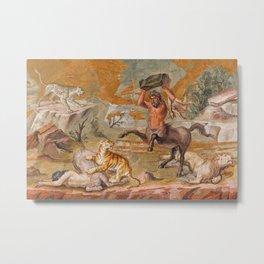 Centaurs Floor Mosaic, 120-130 AD, Tivoli, Italy Metal Print