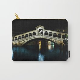 Rialto Bridge, Grand Canal, Venice, Italy Landscape by Jeanpaul Ferro Carry-All Pouch