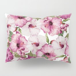 Hibiscus Pattern Pillow Sham