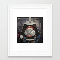 brain Framed Art Prints featuring Brain by •ntpl•