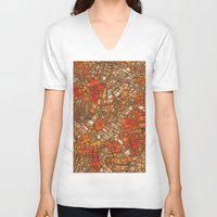maps V-neck T-shirts featuring Fantasy City Maps 3 by MehrFarbeimLeben