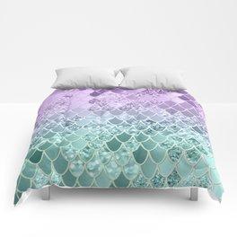 Mermaid Glitter Scales #1 #shiny #decor #art #society6 Comforters
