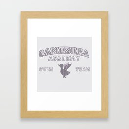 Samezuka - Duck Framed Art Print