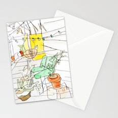 my back porch Stationery Cards