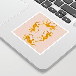Leopard Race - pink Sticker