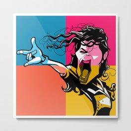 Super star Michael Metal Print
