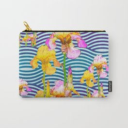 Colorful Iris Water Garden Art Pattern Carry-All Pouch