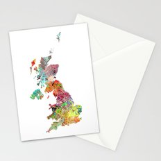 United Kingdom map Stationery Cards