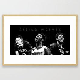 Rising Wolves Art Print. Lavine, Wiggins & Towns. Framed Art Print