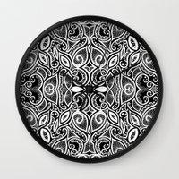 henna Wall Clocks featuring Henna Inspired by Sidrah  Mahmood
