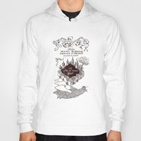 marauders Hoodies featuring MARAUDERS MAP by Graphic Craft