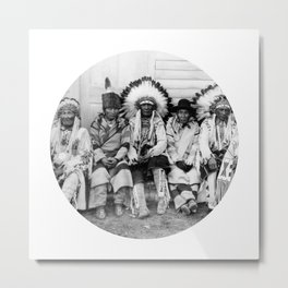 Native American Indians Metal Print