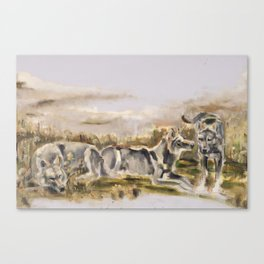 Totem wolf Sunset Canvas Print
