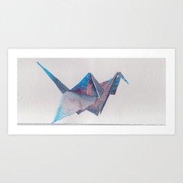 Origami-UniverseBird Art Print