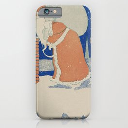 Vintage Santa Claus Chimney Christmas iPhone Case