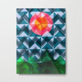 Abstract Geometric Landscape Pattern Metal Print
