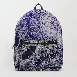 Galaxy/Space Lace Mandala Purple Blue White Backpack