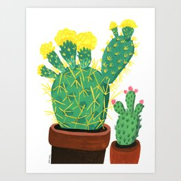 Two Cacti Art Print